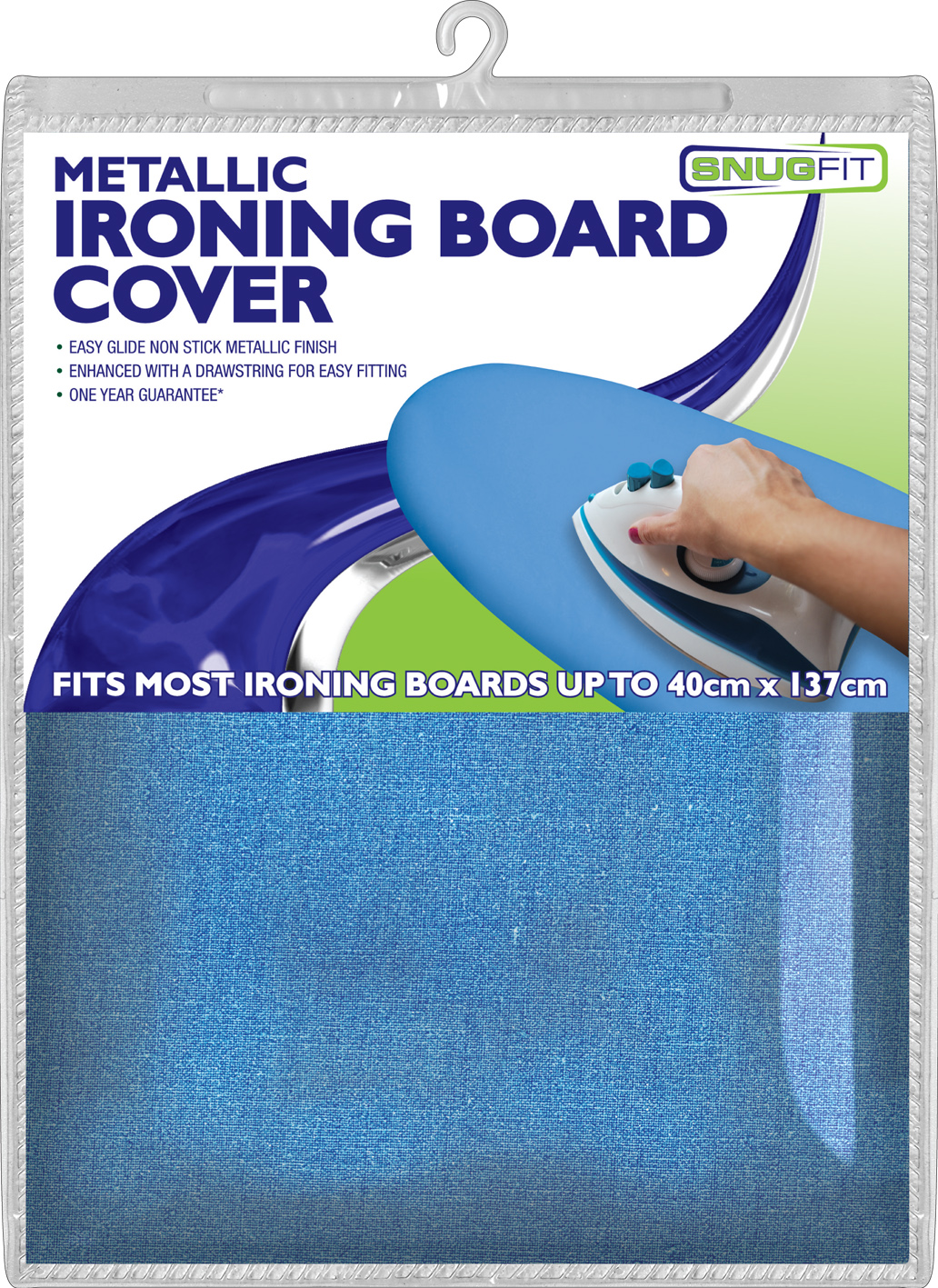 ironing board covers metallic snug fit blue