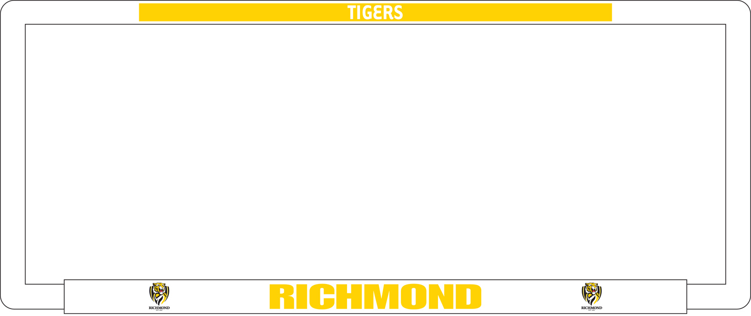 Number Plate Frames AFL Richmond