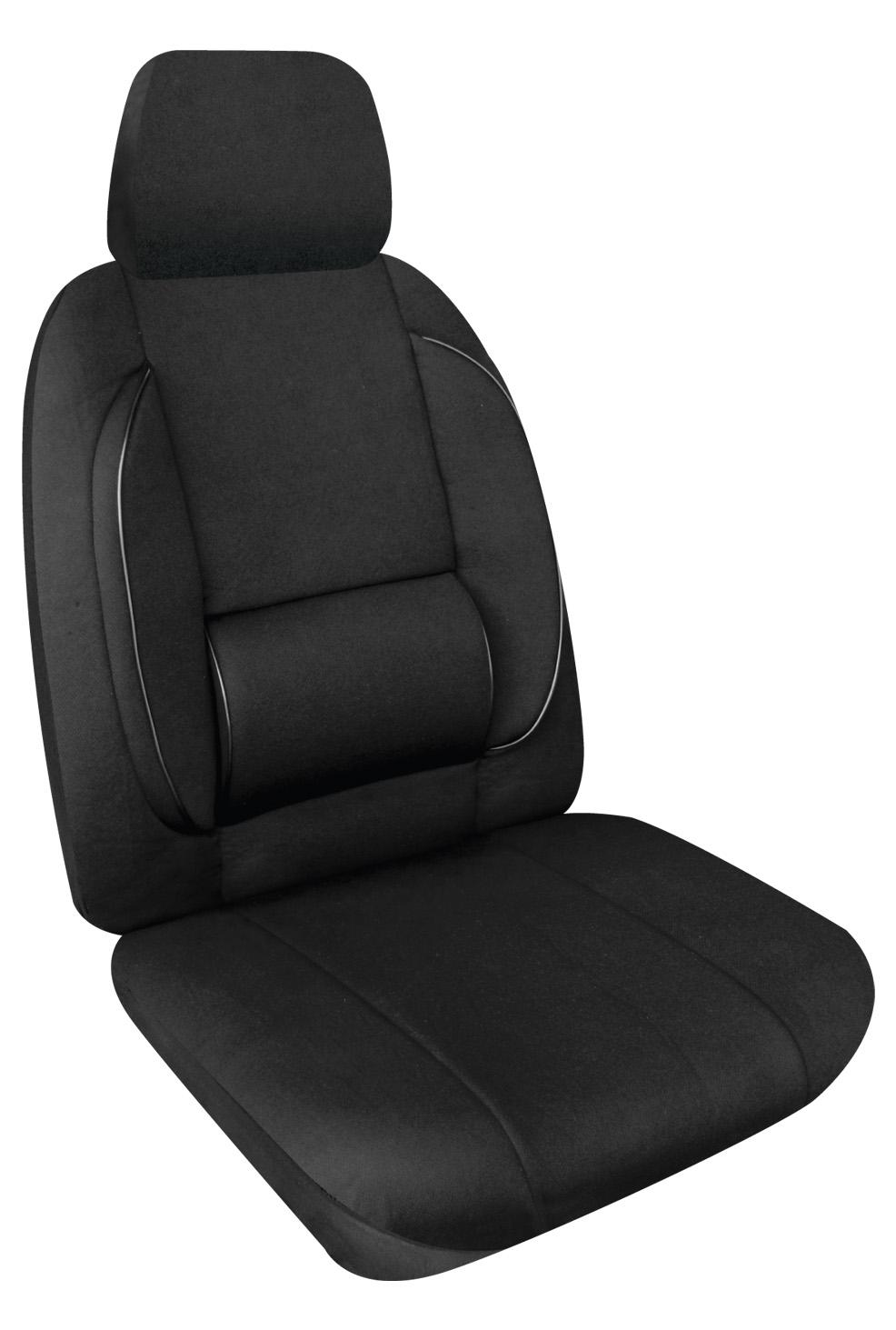 CAR SEAT COVERS DR BACK LUMBAR SUPPORT PN CSLSBLK30