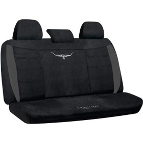 Car Seat Covers R.M.Williams  Velour Black Rear