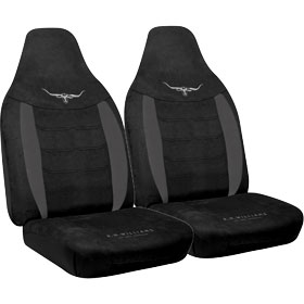 Car Seat Covers R.M.Williams Velour Black Size 60